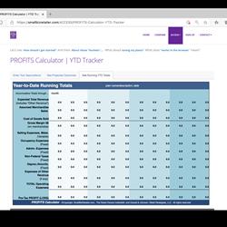 PROFITS Calculator | YTD Tracker
