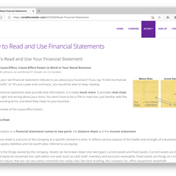"""Reading"" Financial Statements"